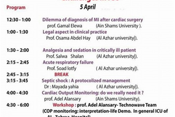 Events of the April Scientific Day of Anesthesia Department