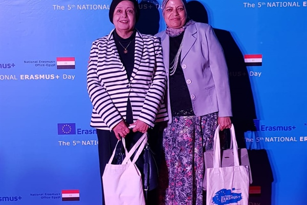 Prof.dr safaa menezaa Prof.dr mariam Abushady IN Erasmus plus day . 8- October 2018